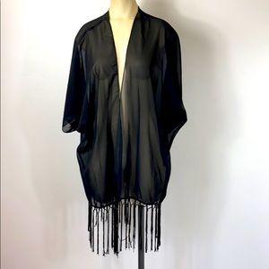 Rue 21 Sheer Black Cardigan Womens Size XL